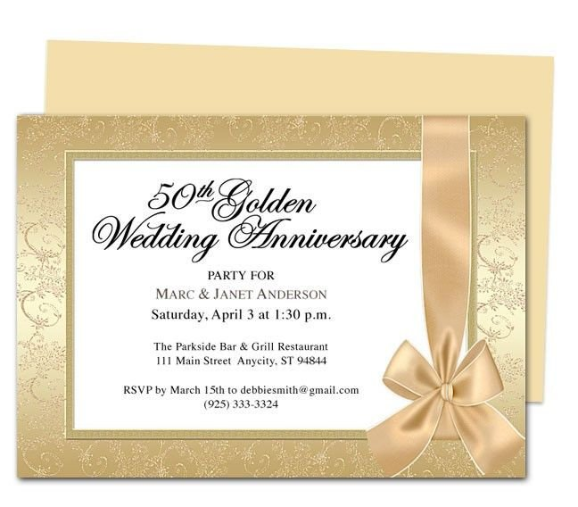 50th Anniversary Invitation Template 9 Best 25th & 50th Wedding Anniversary Invitations