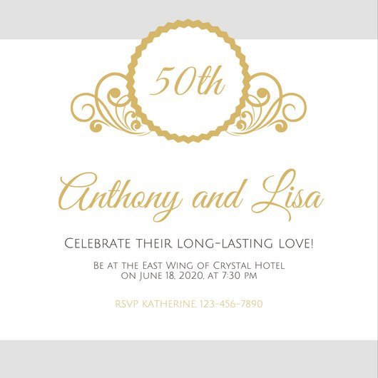 50th Anniversary Invitation Template Customize 1 796 50th Anniversary Invitation Templates