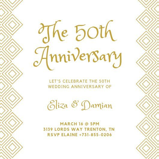 50th Anniversary Invitation Template Customize 453 50th Anniversary Invitation Templates