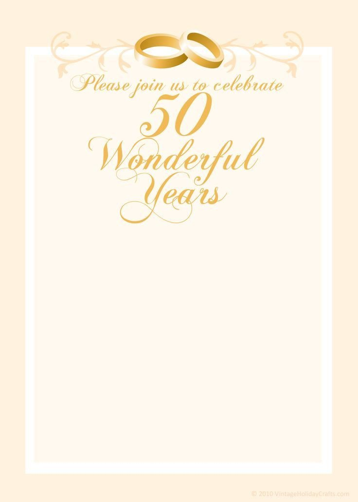 50th Anniversary Invitation Template Free Anniversary Invitation Templates