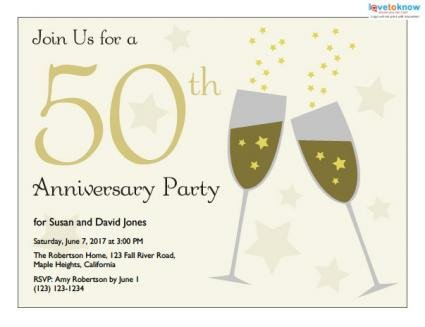 50th Anniversary Invitation Template Printable 50th Anniversary Invitations
