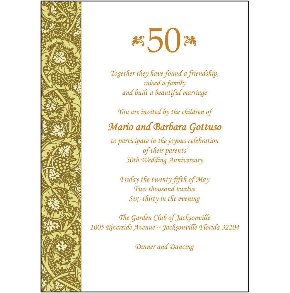 50th Anniversary Invitations Templates 25 Personalized 50th Wedding Anniversary Party Invitations