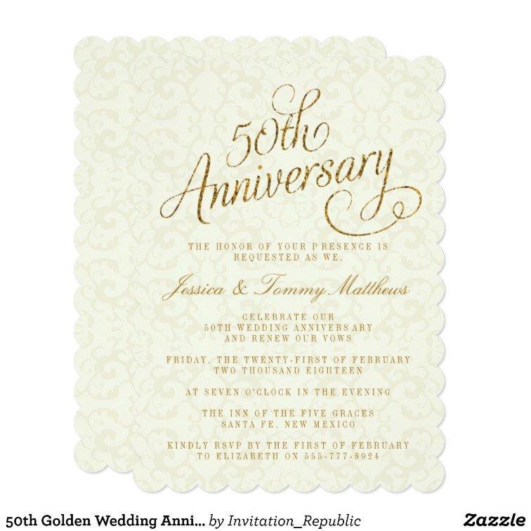 50th Anniversary Invitations Templates 50th Golden Wedding Anniversary Invitations
