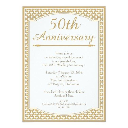 50th Anniversary Invitations Templates 50th Wedding Anniversary Invitation