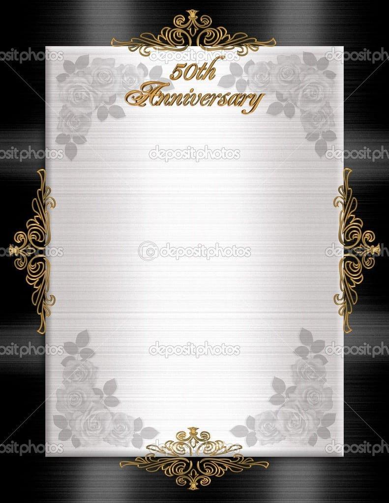 50th Anniversary Invitations Templates 50th Wedding Anniversary Printable Invitation