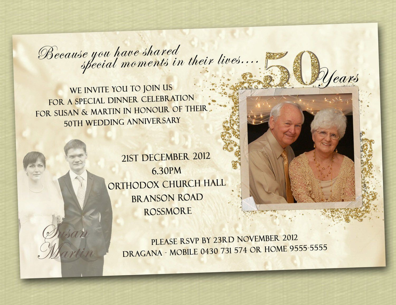 50th Anniversary Invitations Templates Anniversary Invitations Ideas 25th Anniversary