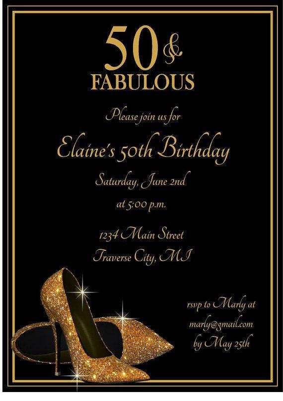 Best 25 50th birthday invitations ideas on Pinterest