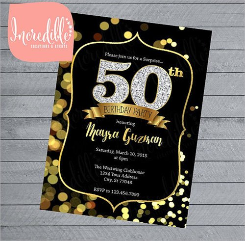 50th Birthday Invitation Template Invitation Template Download Premium and Free Documents