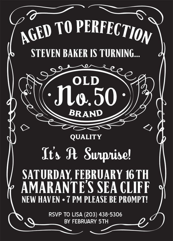 50th Birthday Invitation Template Pin by Poster Vine On Typography Posters