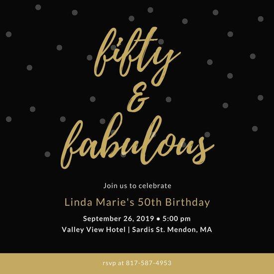 50th Birthday Invitations Templates Customize 317 50th Birthday Invitation Templates Online