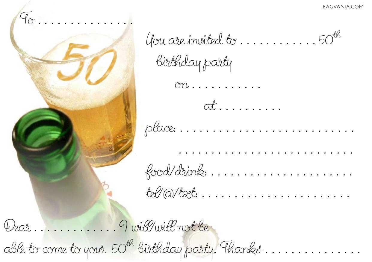 50th Birthday Invitations Templates Free 50th Birthday Party Invitations Wording – Free
