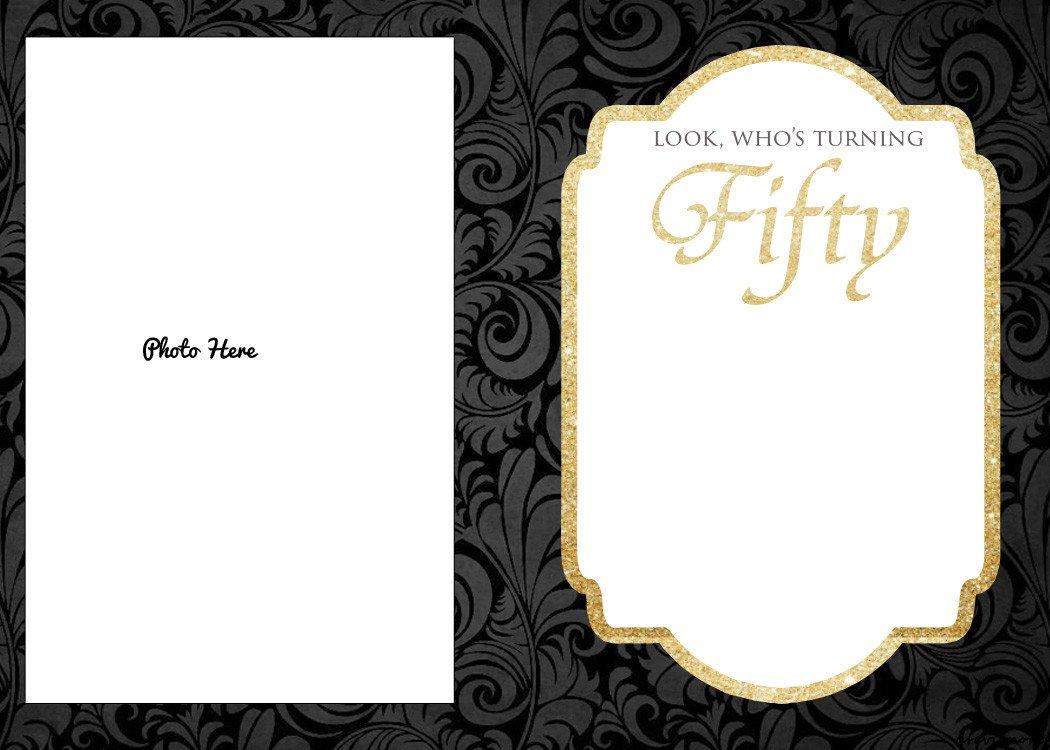50th Birthday Invitations Templates Free Printable 50th Birthday Invitations Template