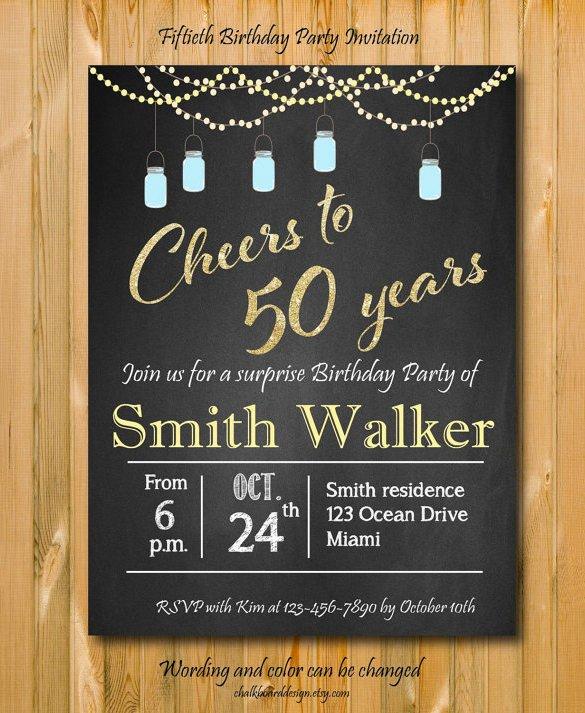 50th Birthday Invitations Templates Invitation Template 43 Free Printable Word Pdf Psd