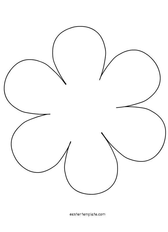 6 Petal Flower Applique