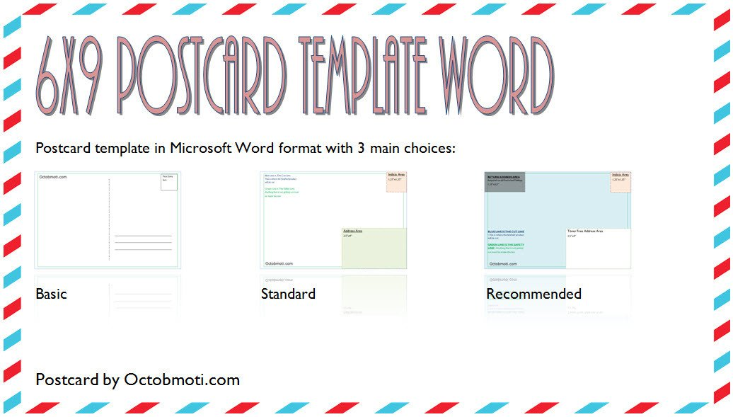6 X 9 Postcard Template 6x9 Postcard Template Word Free Back Standard Usps