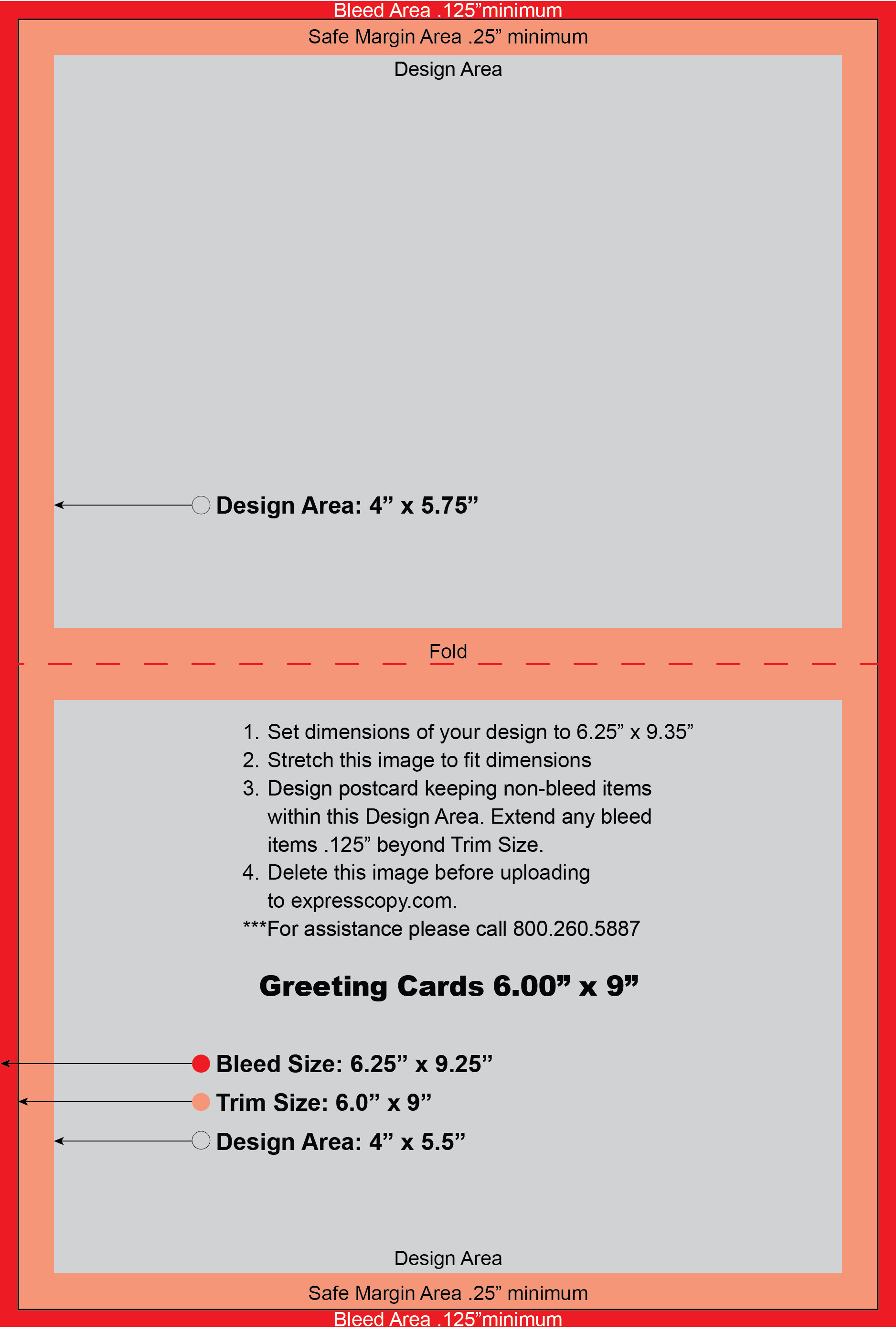 6 X 9 Postcard Template Greeting Card Print Specifications
