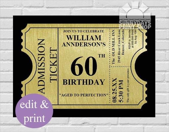26 60th Birthday Invitation Templates – PSD AI