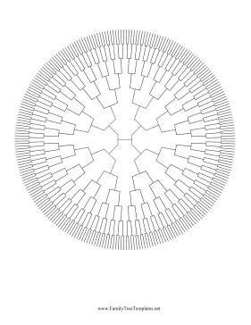 8 Generation Family Tree Template 8 Generation Radial Family Tree Template