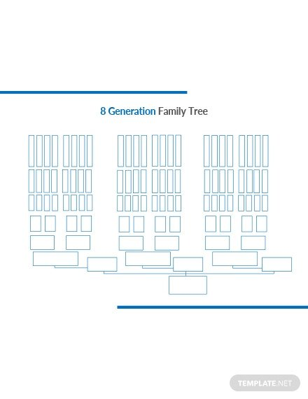 8 Generation Family Tree Template Blank Genogram Template Download 38 Family Trees In Word
