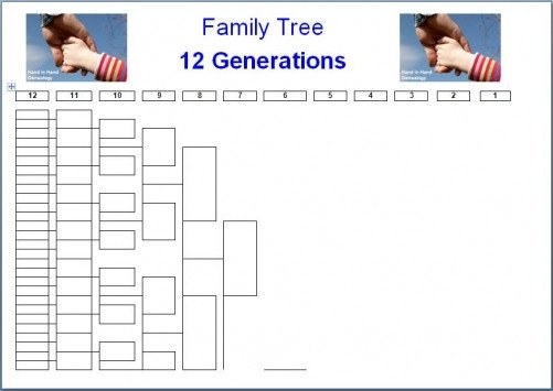 8 Generation Family Tree Template Family Tree Charts 8 Generations Emailed Parish Chest