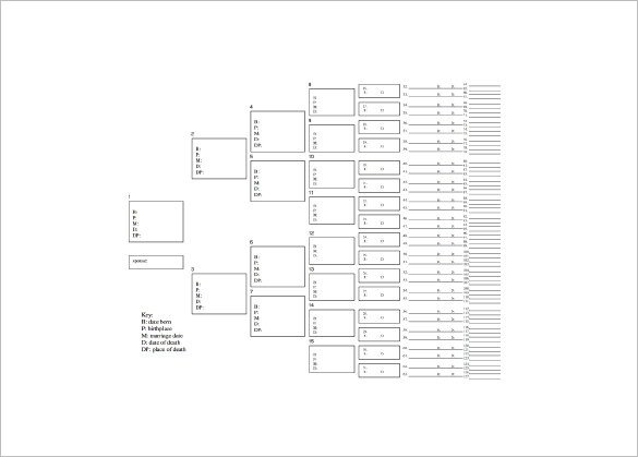 8 Generation Family Tree Template Seven Generation Family Tree Template – 9 Free Word