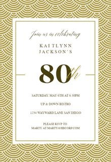 80th Birthday Invitations Templates Free 80th Birthday Invitation Templates Free