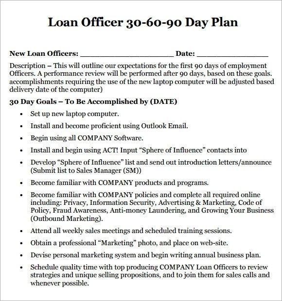 14 Sample 30 60 90 Day Plan Templates Word PDF