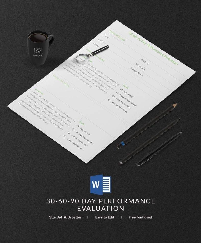 90 Day Performance Review Template 17 Free 30 60 90 Day Plan Templates Word Pdf