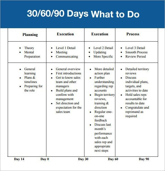 90 Day Review Template 30 60 90 Day Plan Template Affordablecarecat