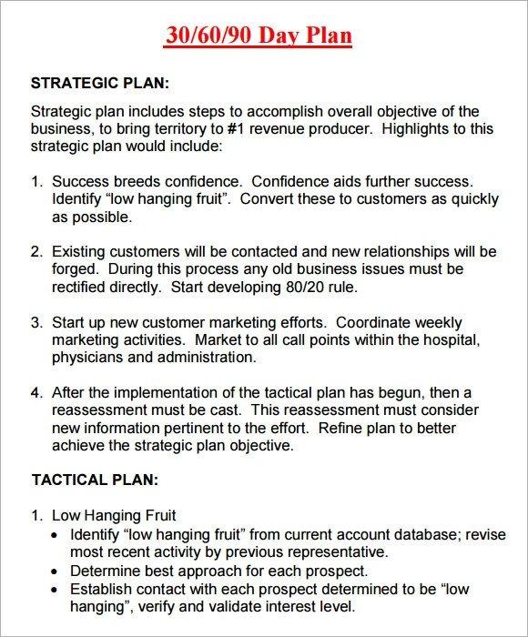90 Day Sales Plan 14 Sample 30 60 90 Day Plan Templates Word Pdf