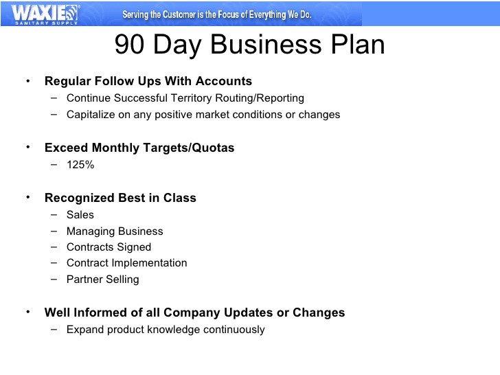 90 Day Sales Plan 30 60 90 Business Plan