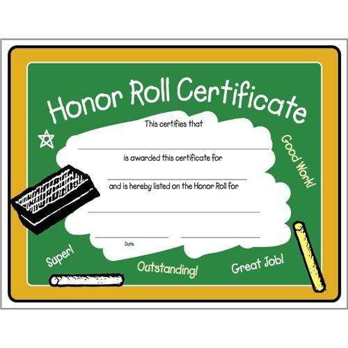 A Honor Roll Certificate Colorful Honor Roll Certificate 8 1 2 X 11 Colorful Honor