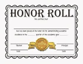 A Honor Roll Certificate Steve S Classroom New Freebie Honor Roll Certificates