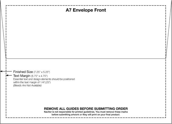 A7 Envelope Template Word 4 Free Printable A7 Envelope Templates