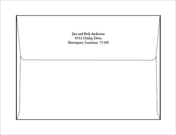 A7 Envelope Template Word 9 A7 Envelope Templates Doc Psd Pdf