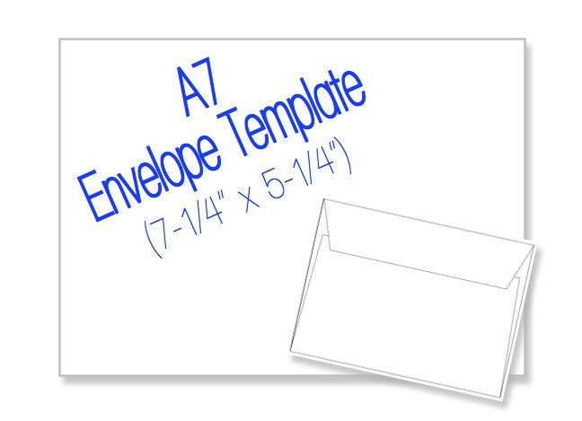 A7 Envelope Template Word A7 Envelope 7 1 4 X 5 1 4 Blank by Heritageexpressions On Etsy