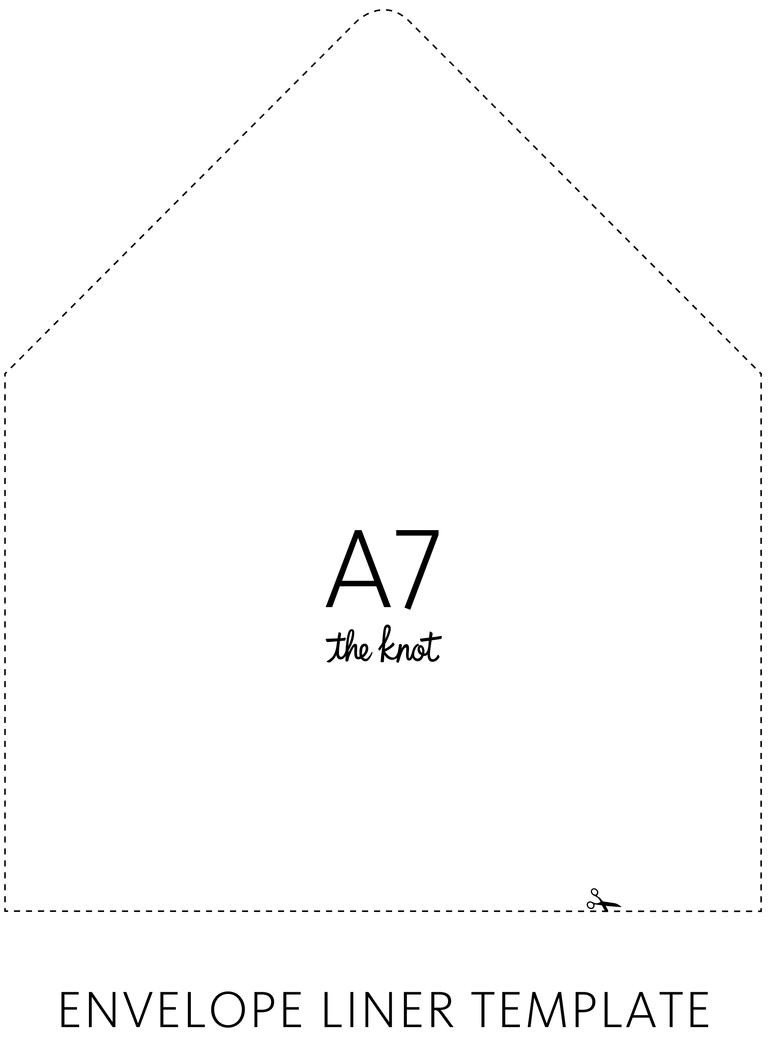 A7 Envelope Template Word the Knot Envelope Liner Template