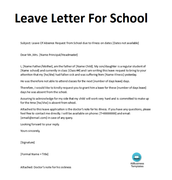 Absence Letter for School How to Write An Absent Excuse Letter for School Quora
