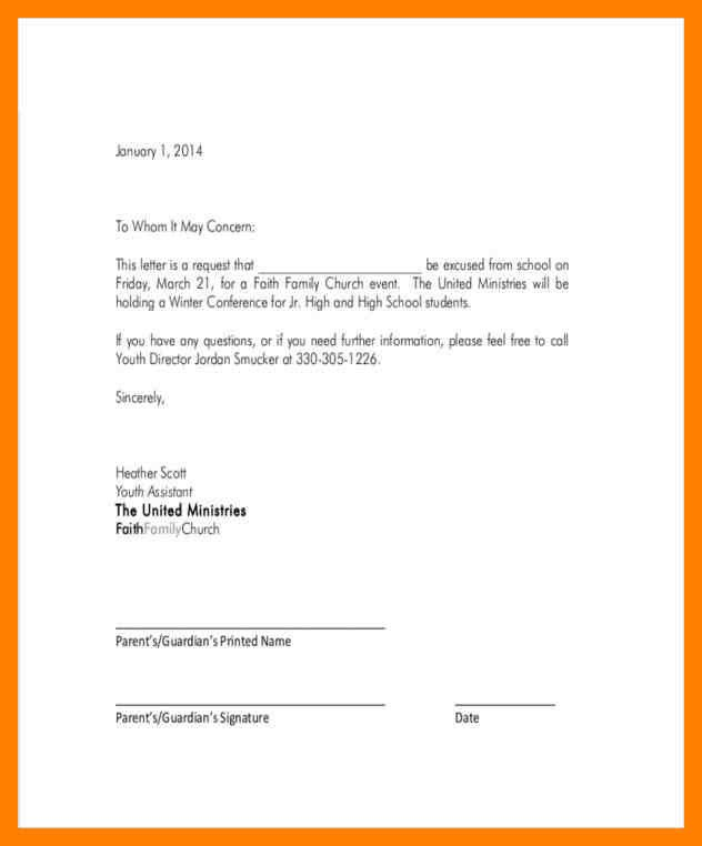 Absence Letter for School How to Write An Excused Absence Note for School Ideal