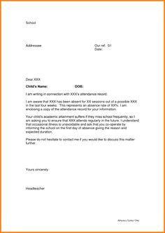 Absence Letter for School Sample Leave Of Absence Letter