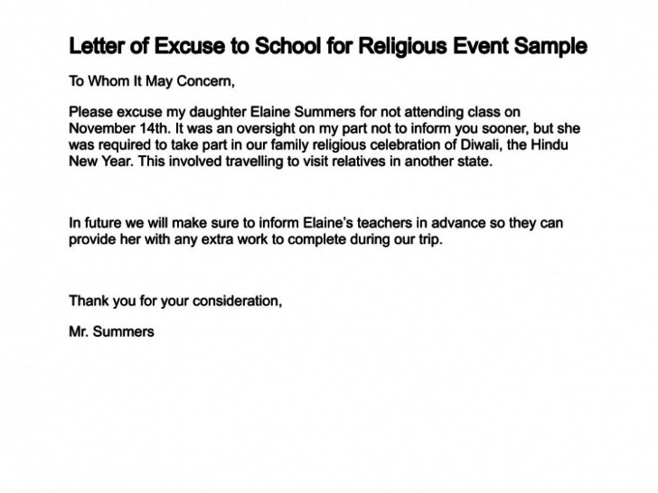 Absent Letters for School Excuse Letter for Being Absent In School Family Vacation