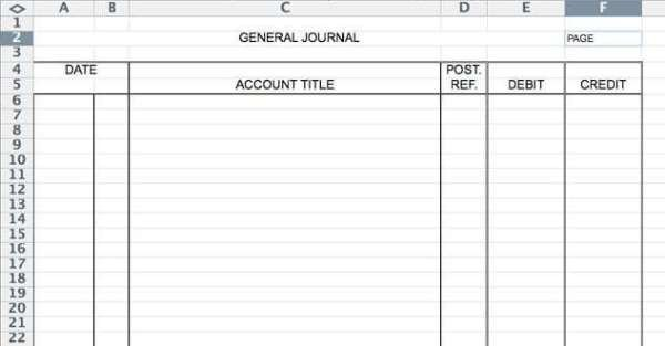 Accounting Journal Entry Template 5 General Journal Templates formats Examples In Word Excel