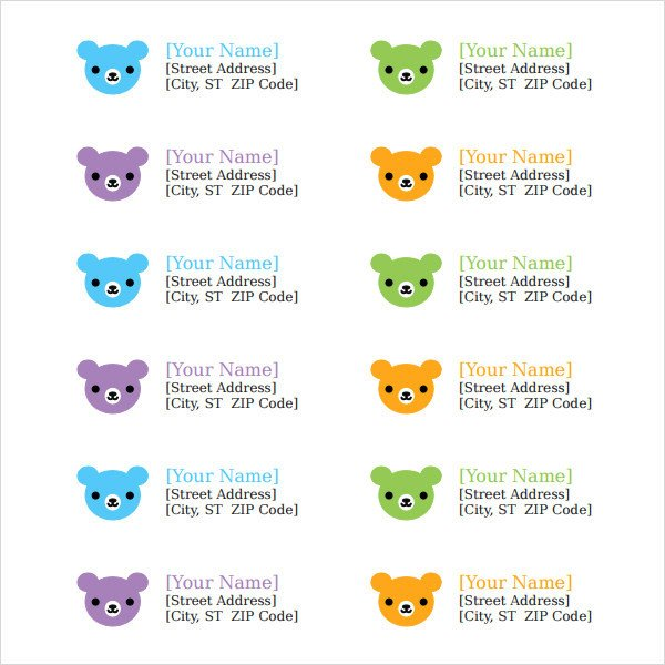 Address Labels Template Free Return Address Label Template 8 Free and Premium