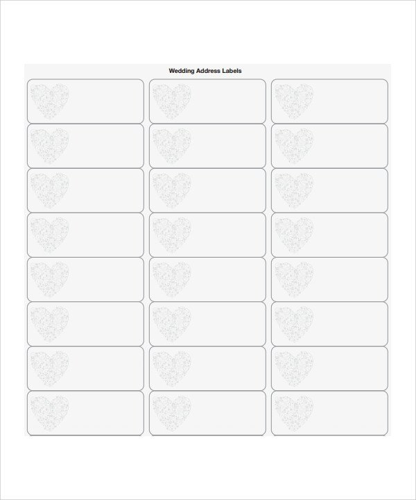 Address Labels Template Free Sample Address Label Template 7 Download I N Pdf