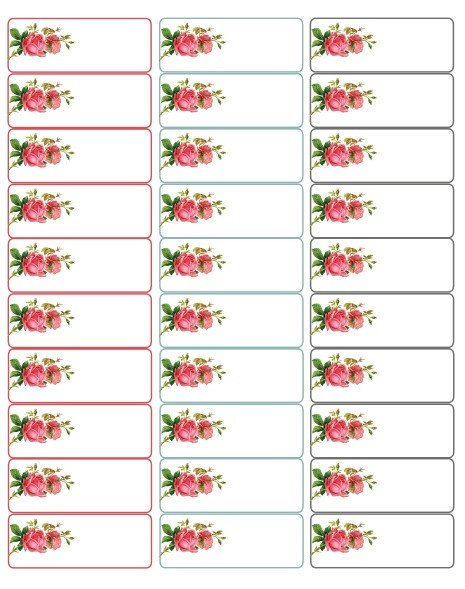 Address Labels Template Free Valentine's Day Labels with Roses