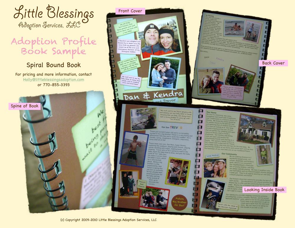 Spiral Bound Adoption Profile Book