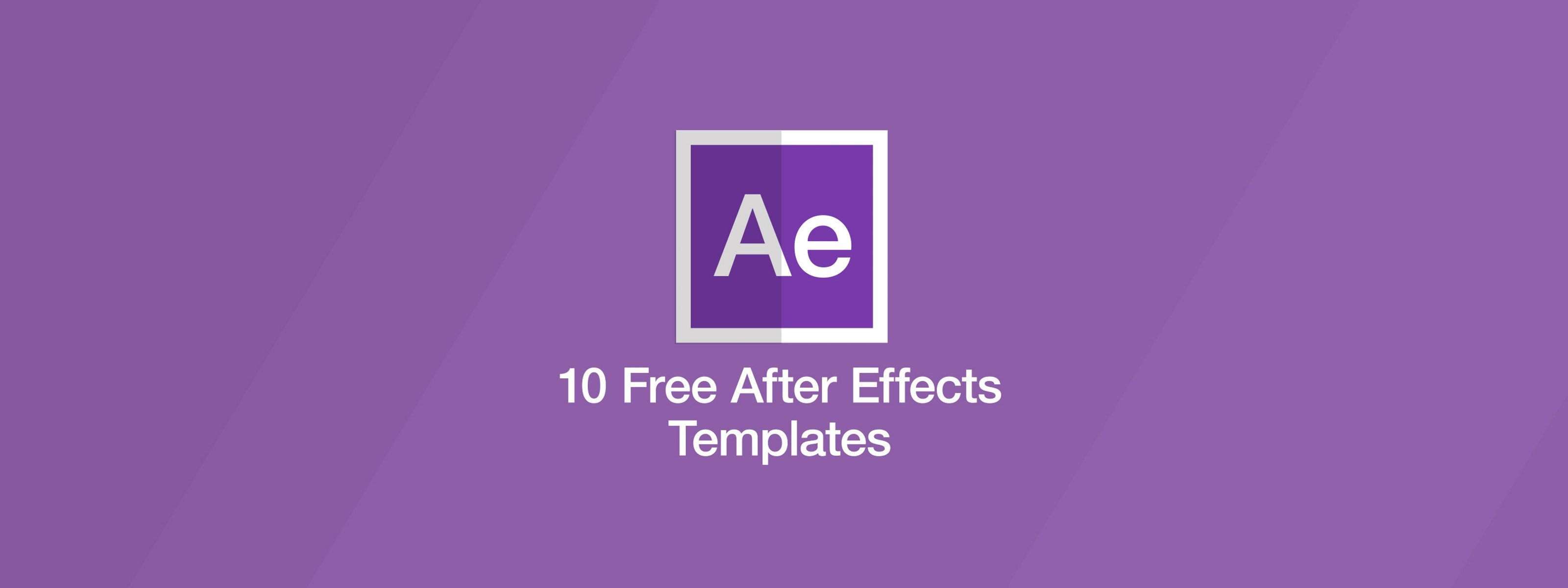 After Effects Templates Free 10 Free after Effects Templates
