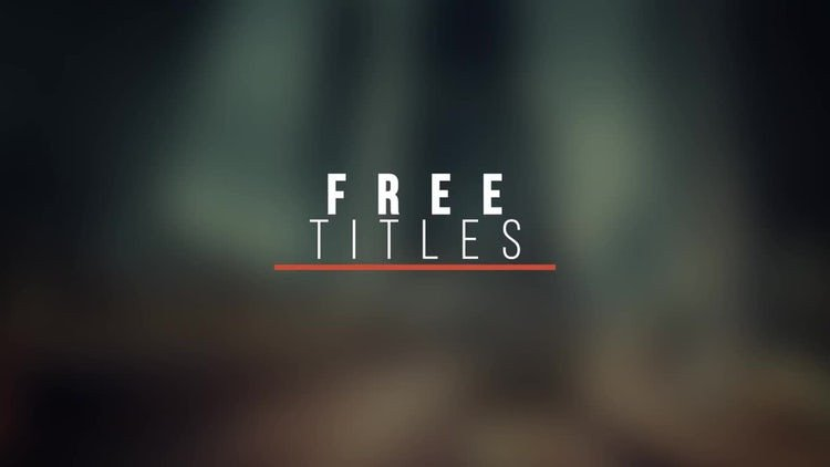 After Effects Templates Free Modern Titles V6 Free after Effects Templates