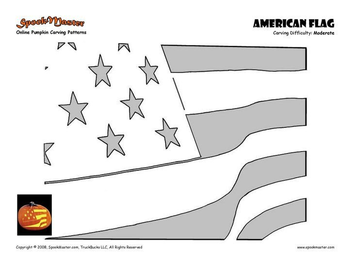 American Flag Pumpkin Carving Template 17 Best Images About Halloween On Pinterest