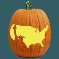 American Flag Pumpkin Carving Template All American Pumpkin Carving Patterns On Pinterest